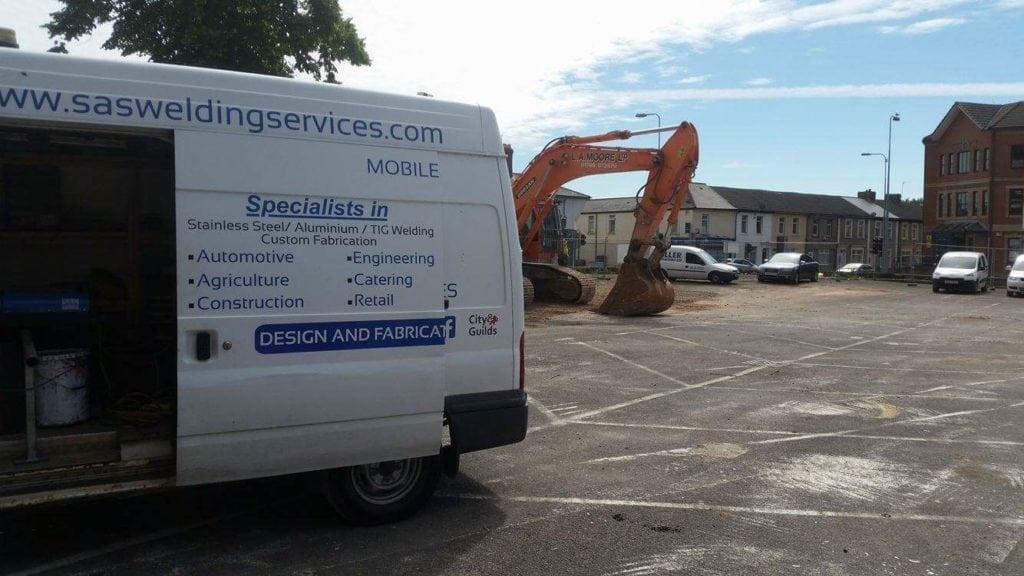 mobile welder on site